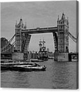 Tower Bridge And The Endeavor Canvas Print