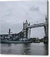 Tower Bridge Open Canvas Print