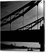 Tower Bridge Silhouette Canvas Print