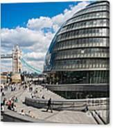 Tower Bridge With City Hall Canvas Print