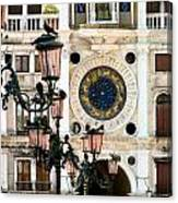 Tower Clock In Saint Mark's Square Canvas Print