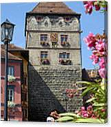 Tower In Old Town Rottweil Germany Canvas Print