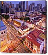 Towers And Shophouses Canvas Print