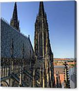 Towers Of The Cathedral Canvas Print