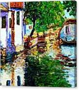 Town With Water Streets Canvas Print