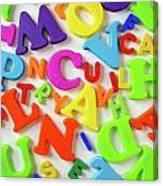 Toy Letters Canvas Print