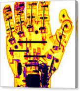 Toy Robotic Hand X-ray Canvas Print