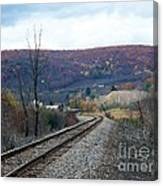 Tracks In The Valley Canvas Print