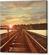 Tracks To Greatness Canvas Print