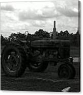 Tractor At The Flats Canvas Print