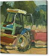 Tractor In Italy Canvas Print