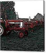 Tractor Row Canvas Print