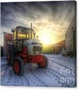 Tractor Sunrise Canvas Print
