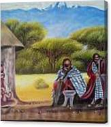 Traditional African Men Canvas Print