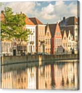 Traditional Brugge Buildings Canvas Print