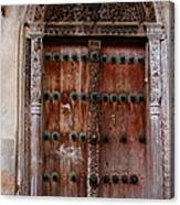 Traditional Carved Door Canvas Print