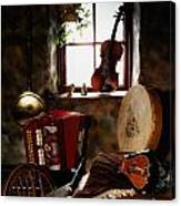 Traditional Musical Instruments, In Old Canvas Print