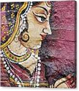 Traditional Painting On A Wall Jodhpur Canvas Print