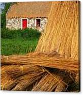 Traditional Thatching, Ireland Canvas Print