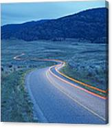 Traffic At Dusk Canvas Print