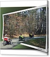 Trail Of Trikes Canvas Print