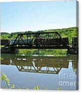 Train And Trestle Canvas Print