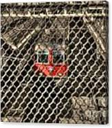 Train Behind A Fence Canvas Print