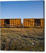 Train Cars Canvas Print