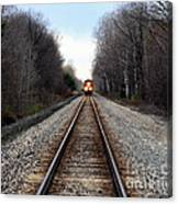 Train Head On Canvas Print
