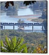 Train On The Mississippi Canvas Print