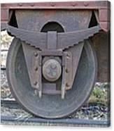 Train Wheel Canvas Print