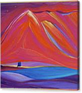Travelers Pink Mountains Canvas Print