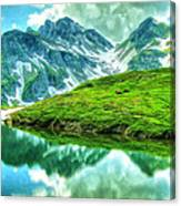 Travelers Rest Swiss Alps Canvas Print