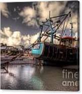 Trawler At New Quay Canvas Print