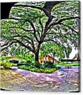 Tree In Church Yard - 4 Canvas Print