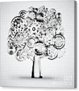 Tree Of Industrial Canvas Print