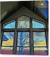 Tree Through The Window Canvas Print
