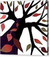 Tree With Autumn Leaves Canvas Print
