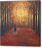 Trees Echo The Footfalls Canvas Print