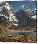 Trekkers Camp Near Carhuacocha Lake Canvas Print
