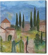Tres Visitas En Segovia Canvas Print