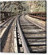 Trestle Tracks Canvas Print