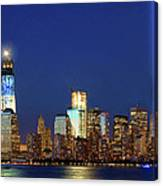 Tribute Of Lights Nyc 2012 Canvas Print