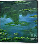Tribute To Monet 2 Canvas Print