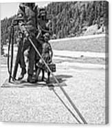 Tribute To The Mining Family - Wallace Idaho Canvas Print