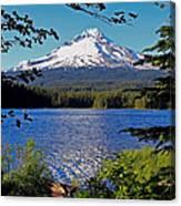 Trillium Lake At Mt. Hood II Canvas Print