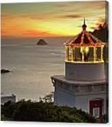 Trinidad Memorial Lighthouse Sunset Canvas Print