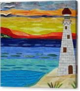 Trinity Lighthouse On The Bay Of Paradise Canvas Print