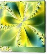 Triplicate Vertical Yellow Blossoms Canvas Print