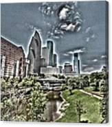 Trippy Houston Canvas Print